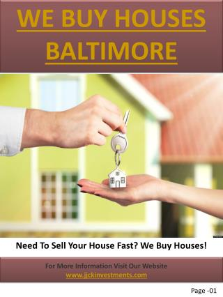We Buy Houses Anne Arundel County