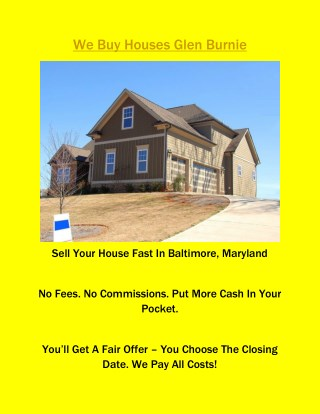 Sell Your House Quick Baltimore