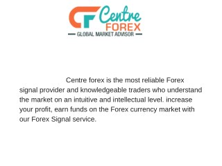 trustable forex signals providers