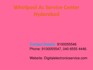 Whirlpool Ac Service Center Hyderabad