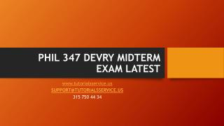 PHIL 347 DEVRY MIDTERM EXAM LATEST