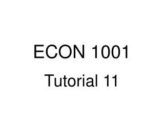 ECON 1001