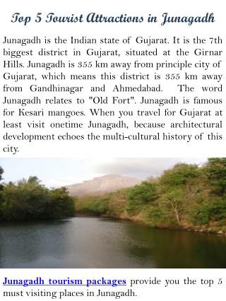 Top 5 Tourist attractions in Junagadh