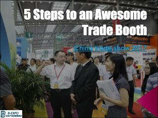 5 Steps to an Awesome Trade Booth