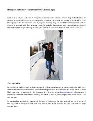 Make Your Fashion Swoon Everyone With FashioninVogue