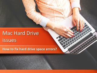 Mac hard drive issues   How to fix hard drive space errors?