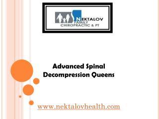 Advanced Spinal Decompression Queens - nektalovhealth.com