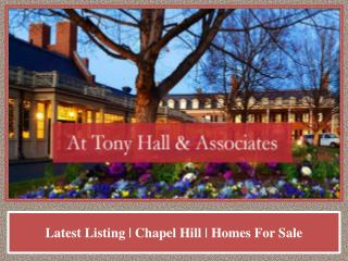 Latest Listing   Chapel Hill   Homes For Sale