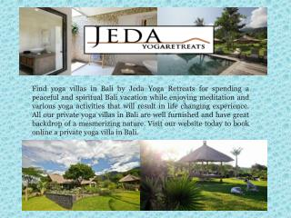 Yoga accommodation Bali