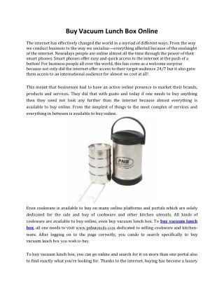 Buy Vacuum Lunch Box Online