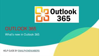 What's new in Outlook 365