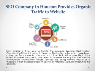 SEO Company in Houston Provides Organic Traffic to Website
