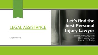 InjuryLawMyWay - Specialize in Personal Injuries