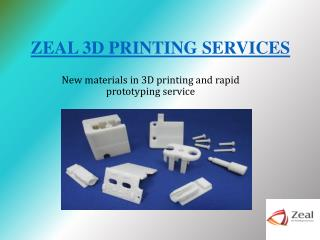 New Materials in 3D Printing and Rapid Prototyping Services