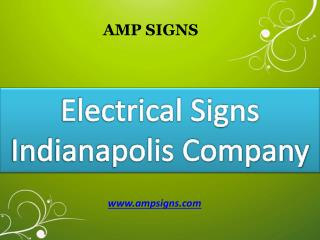 Electrical Sign Installation Company Indianapolis