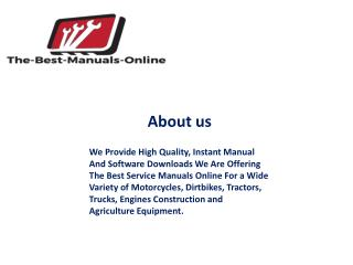 John Deere service manual