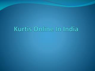 Kurtis Online in India