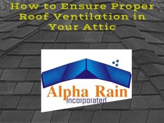 Ventilation Check | Metal Roofing Virginia