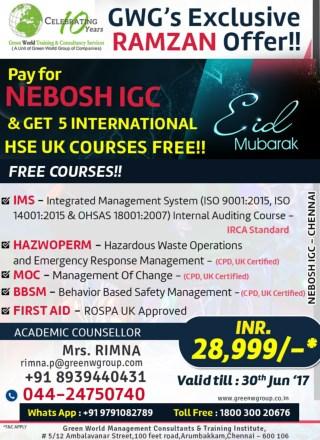 NEBOSH IGC course training in Chennai