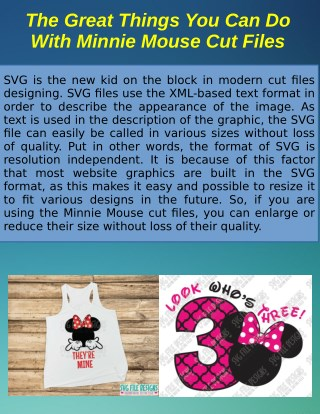 The Great Things You Can Do With Minnie Mouse Cut Files