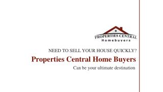 Properties Central Home Buyer | We Buy Houses for Cash in MA