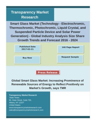 Smart Glass Market Driven by Rapidly Growing Chemical Industry, Growth Factors and Forecast 2024