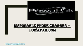 Disposable Phone Charger - powapak.com