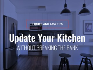 Update Your Kitchen Without Breaking the Bank