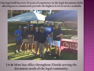 Exhibit Binders Miami Litigation Services