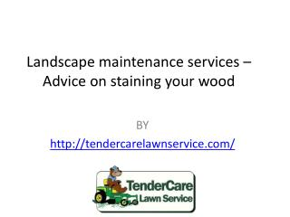Landscape maintenance services – Advice on staining your wood