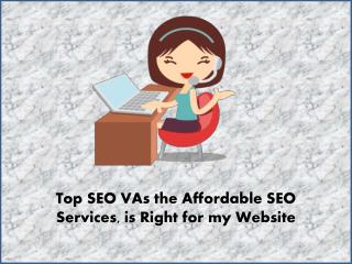 Top SEO VAs the Affordable SEO Services is Right for my Website