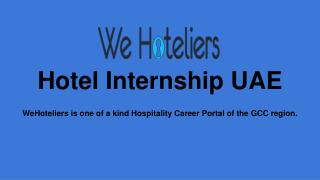 Choose Best Hotel Internship UAE Training Program