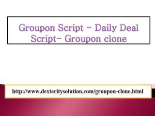 Groupon Script- Daily Deal Script - GrouponClone