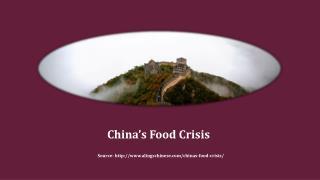 China's Food Crisis