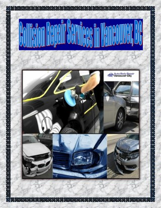 Collision Repair Services in Vancouver, BC