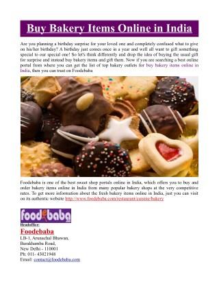 Buy Bakery Items Online in India