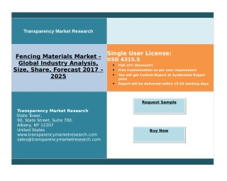 Fencing Materials Market Rising Demand For Decorative And Innovative Home Products, By 2025