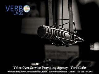 Voice Over Service, Professional Actor for Hire - VerboLabs