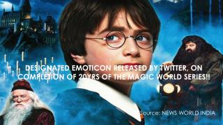 DESIGNATED EMOTICON RELEASED BY TWITTER, ON COMPLETION OF 20YRS OF THE MAGIC WORLD SERIES!!