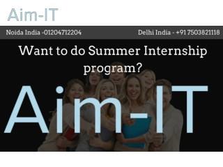 Want to do Summer Internship Program?
