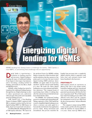 Banking Frontiers - Energizing digital lending for MSMEs