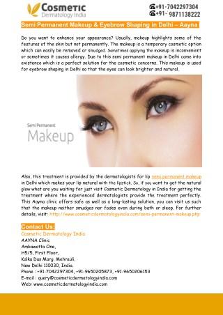 Best Eyebrow Shaping in Delhi – Aayna