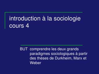Introduction   la sociologie cours 4