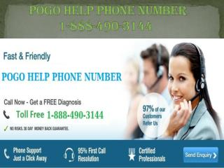 Pogo Help Phone Number  1-888-490-3144