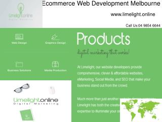 Ecommerce Web Development Melbourne | Melbourne SEO Company