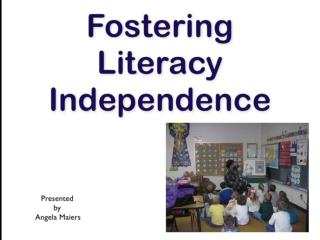 Fostering Independence With The Daily Five Independence May 2010