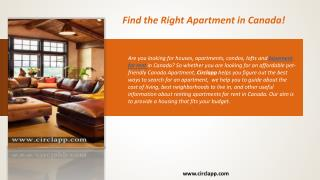 Find the Right Apartment in Canada