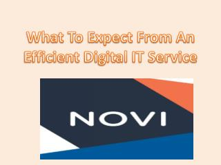 What To Expect From An Efficient Digital IT Service