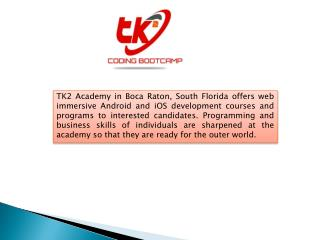 web developer training programs - TK2 Academy