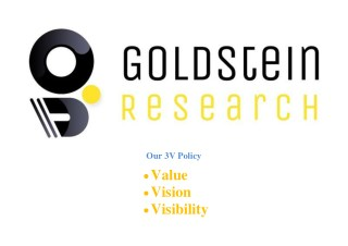 GOLDSTEIN RESEARCH - Business Consulting and Market Research Firm